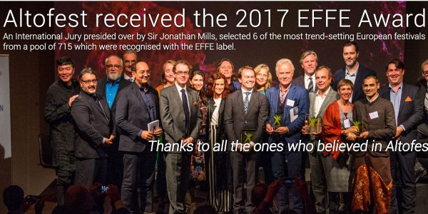 Altofest receives the 2017 EFFE Award